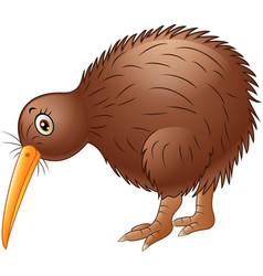 Cute kiwi bird cartoon vector