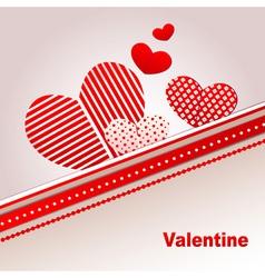 Decorative valentine hearts vector