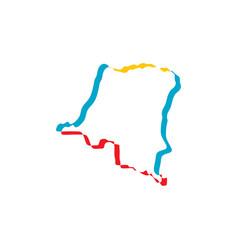 Democratic republic congo icon symbol vector