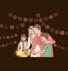 Diwali or deepawali festival concept vector