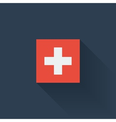 Flat flag of Switzerland vector image
