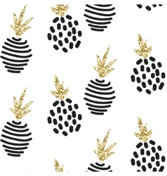 Glitter scandinavian ornament gold vector image