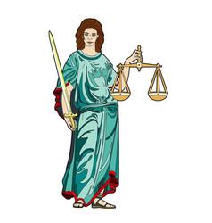 Goddess justice vector