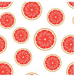 Grapefruit seamless pattern vector