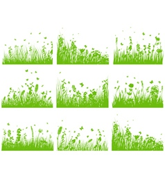 Grass set nine vector