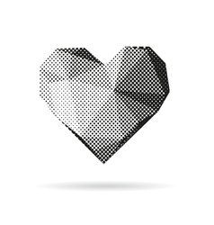 Heart abstract isolated vector image