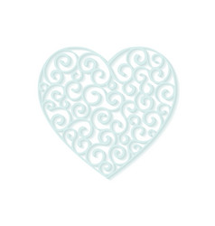 heart curl design element vector image