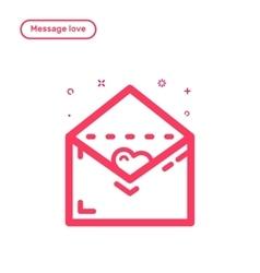 Icon concept message vector