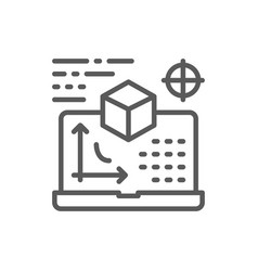 Interactive board presentation project line icon vector