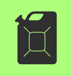 jerrycan flat icon on background vector image