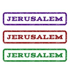 Jerusalem watermark stamp vector