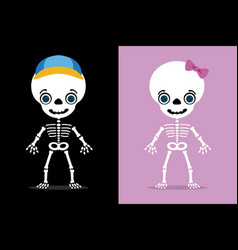 kids skull vector image