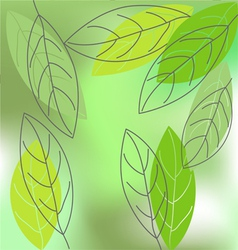 Leaf spring - background vector image