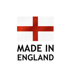 Made in england label tag template vector