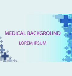 Medical background blue cross vector