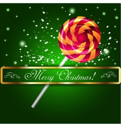 Merry Christmas candy on a background vector