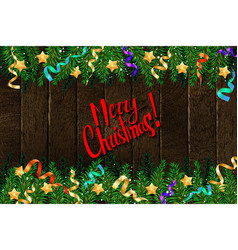 merry christmas template card vector image