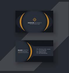 Modern black business card design vector