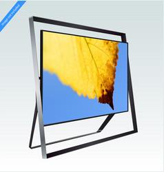 modern smart led 8k tv series isolated on light vector image