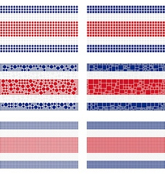 Mosaic Costa Rica flag set vector