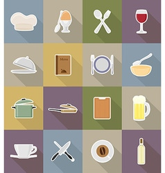 Objects for food flat icons 18 vector
