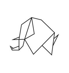 Origami elephant vector
