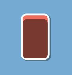 Paper sticker on stylish background eraser vector