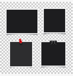 Photo frameset realistic paper instant vector