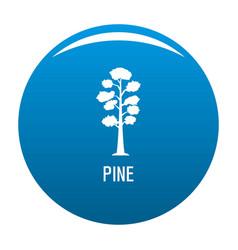 Pine tree icon blue vector
