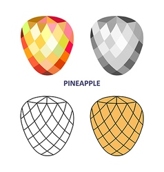Pineapple gem cut vector image
