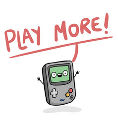 Play more game boy background image vector