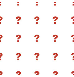 Question icon pattern seamless white background vector