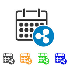 ripple calendar icon vector image