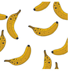 seamless background pattern with bananas vector image