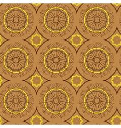 seamless yellow brown circles vector image