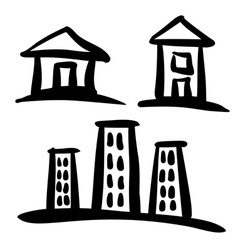 set house sketches vector image