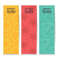 Set of three colorful graphic vertical banners vector