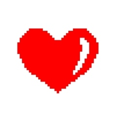 Sign pixel heart 207 vector image