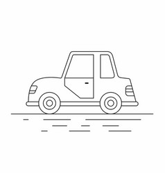 small car line icon vector image