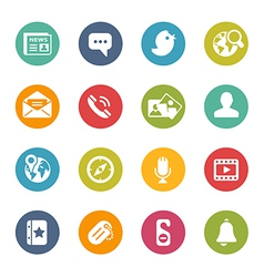 Social-media-icons fresh-colors-series vector