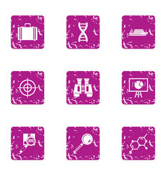 Specific purpose icons set grunge style vector