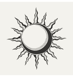 Sun symbol isolated on white ackground vector