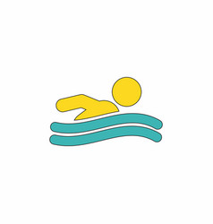 Swimming icon sign vector