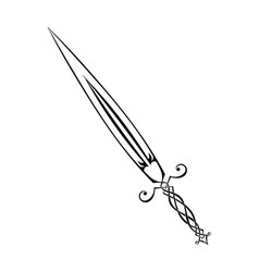 Sword tattoo vector image