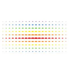 Treasure brick spectral halftone pattern vector