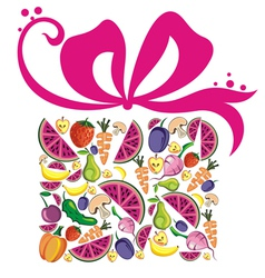 Various Fruits and Vegetables vector image
