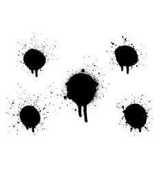 Various spray paint graffiti decorative splatters vector