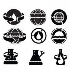 water logos vector image