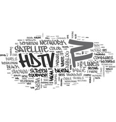 What is hdtv text word cloud concept vector