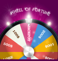 Wheel of fortune - jackpot sector lottery win vector